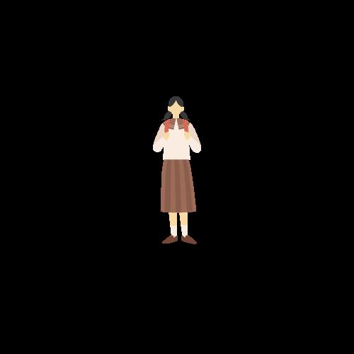学生服を着た女の子